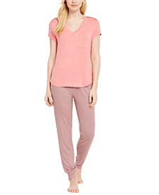 T-Shirt & Jogger Pajama Separates, Created for Macy's