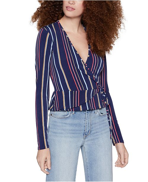 BCBGeneration Striped Side-Tie Top