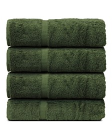 Luxury Hotel Spa Towel Turkish Cotton Bath Towels, Set of 4