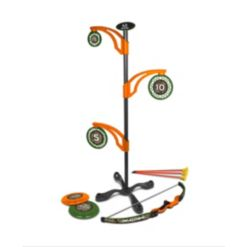 Nkok Realtree Games 2-In-1 Toy Flying Disc Archery Target Set