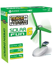 Solar Fun 6 Build-It-Yourself 6-In-1 Robot Stem Educational Toys