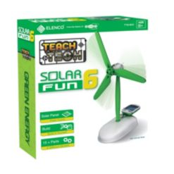 Teach Tech Solar Fun 6 Build-It-Yourself 6-In-1 Robot Stem Educational Toys