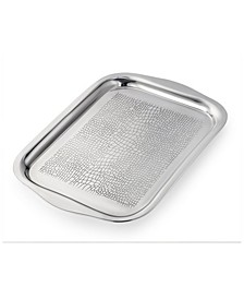 "21.5"" Stainless Steel Rectangular Tray"