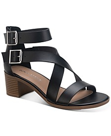 Quinn Block-Heel City Sandals, Created for Macy's