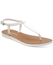 Kristi T-Strap Flat Sandals, Created for Macy's
