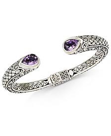 Amethyst Weave-Look Cuff Bracelet (3-3/8 ct. t.w.) in Sterling Silver