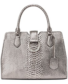 Bold Python Embossed City Satchel