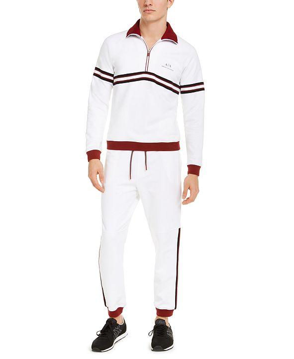 Armani Exchange A X Quarter-Zip Sweatshirt & Colorblocked Track Pants
