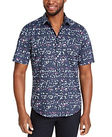 Men's Stretch Printed Shirt, Created for Macy's