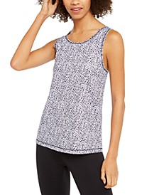 Leopard-Print Mesh-Back Tank Top, Created For Macy's