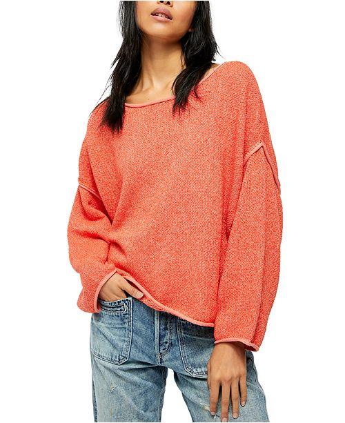 Free People Bardot Solid Sweater