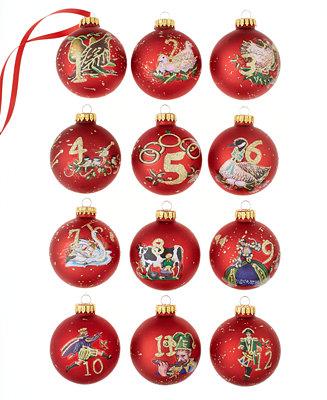 Kurt Adler 12 Days of Christmas Ornament Set - Holiday ...