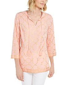 Petite Cotton Printed Tunic, Created for Macy's