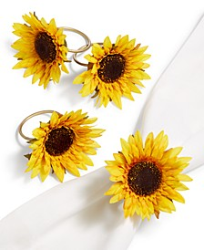 Americana Sunflower Napkin Rings, Set of 4, Created for Macy's