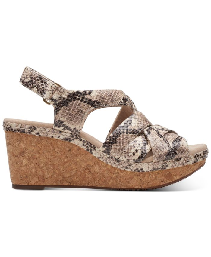 Clarks Collection Women's Annadel Rayna Wedge Sandals & Reviews - Sandals - Shoes - Macy's