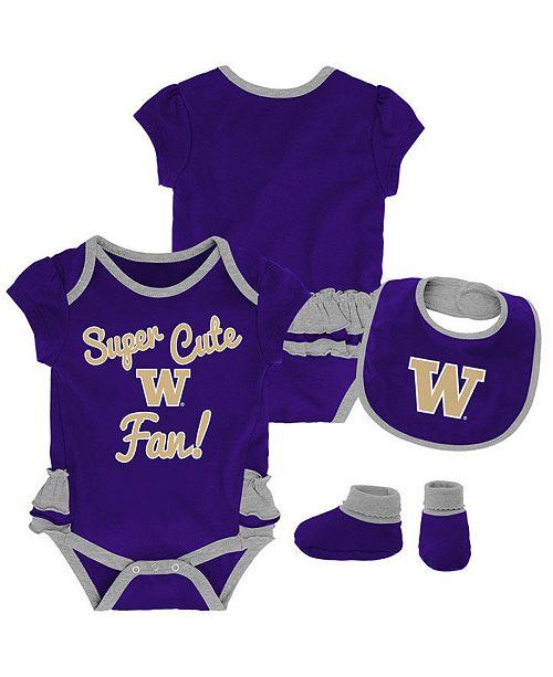 Outerstuff Baby Washington Huskies Trifecta Bib Set