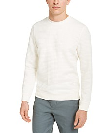 Men's Quilted Pullover Sweater, Created for Macy's