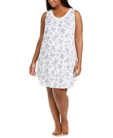 Plus Size Printed Nightgown, Created for Macy's
