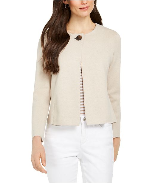 Charter Club One-Button Cardigan Sweater, Created for Macy's