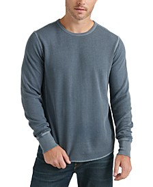 Men's Long-Sleeve Topstitched T-Shirt