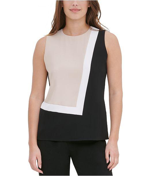 Calvin Klein Sleeveless Colorblocked Top