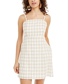 Juniors' Gingham Short Dress