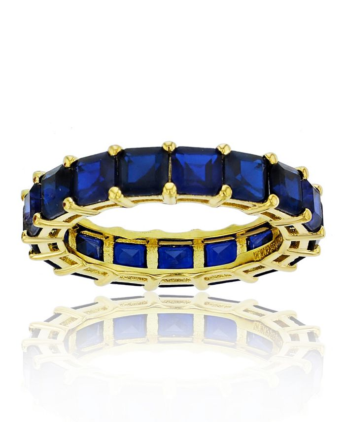 Macy's - Cubic Zirconia Eternity Band in 14k Yellow Gold Plated Plated Sterling Silver