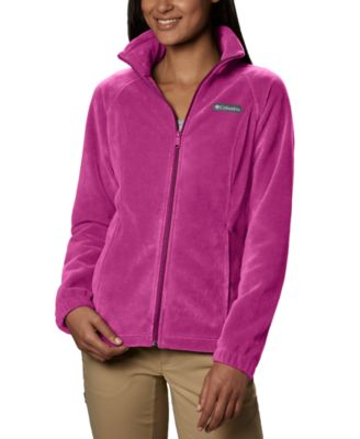 Columbia Youth Girls Fast Beauty Hybrid Full Zip Fleece Water Resistant Hooded Jacket