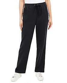 Petite French Terry Side-Striped Pants, Created for Macy's