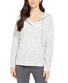 Heathered Split-Neck Hoodie, Created for Macy's