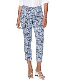 Sheri Tummy-Control Snakeskin-Print Jeans