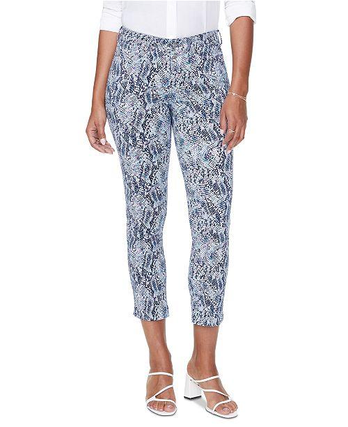 NYDJ Sheri Tummy-Control Snakeskin-Print Jeans