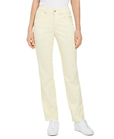 Petite Rail Tummy-Control Straight-Leg Ankle Jeans, Created for Macy's