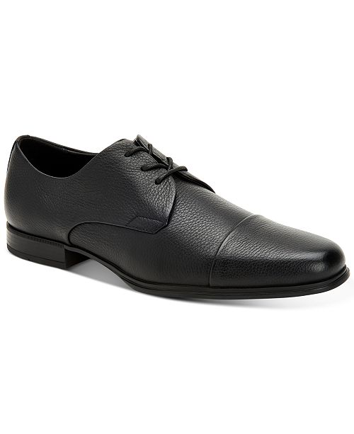 Calvin Klein Men's Dominick Soft Tumbled Leather Oxfords