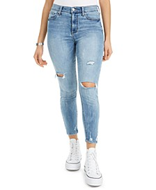 Juniors' Distressed Ankle Skinny Jeans