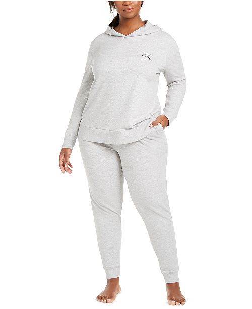 Calvin Klein CK One Plus Size French Terry Lounge Separates