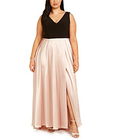 Plus Size Tulip-Skirt Gown
