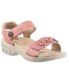 Shoe Sydney Adjustable Floral Leather Sandal