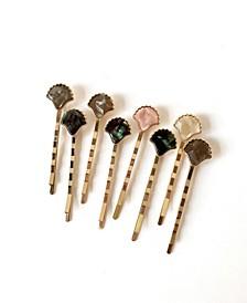 Seashell Bobby Eight-Piece Bobby Pin Set