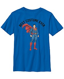 DC Comics Little and Big Boys Superman Best Costume Ever Short Sleeve T-Shirt