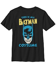 DC Comics Little and Big Boys This Is My Batman Costume Short Sleeve T-Shirt