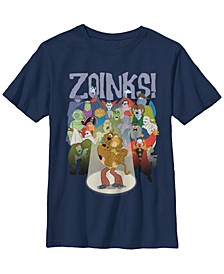 Scooby Doo Little and Big Boys Zoinks Bas Crowd Short Sleeve T-Shirt