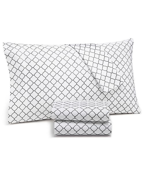 Charter Club Arabesque Geo 4-Pc. Queen Sheet Set, 550-Thread Count Supima Cotton Created for Macy's