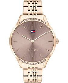 Women's Rose Gold-Tone Stainless Steel Bracelet Watch 36mm, Created For Macy's