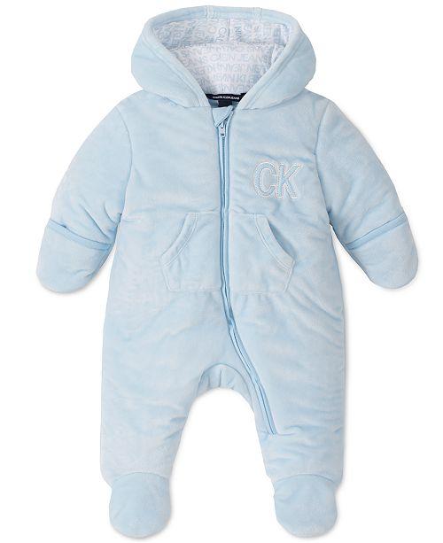 Calvin Klein Baby Boys Hooded Pram