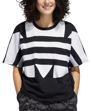 Adidas Originals Tops ADIDAS ORIGINALS COTTON LOGO T-SHIRT