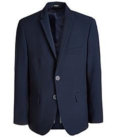 Big Boys Classic-Fit Stretch Navy Blue Suit Jacket