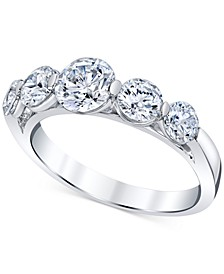 Diamond Graduated Band (2 ct. t.w.) in 14k White Gold