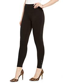 INC Ponté-Knit Ankle Grommet Leggings, Created for Macy's