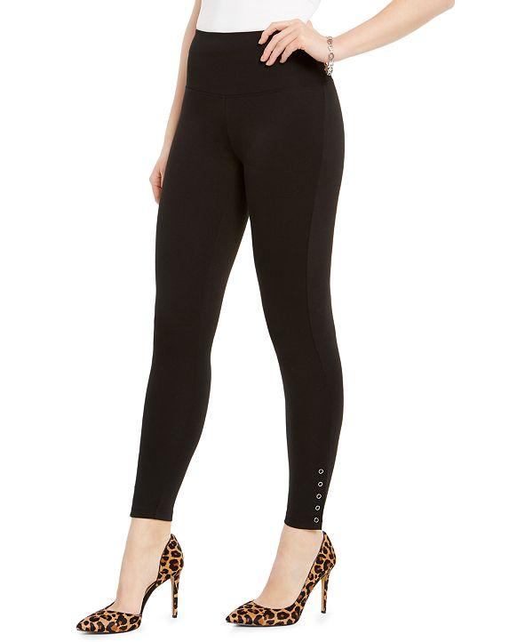 INC International Concepts INC Ponté-Knit Ankle Grommet Leggings, Created for Macy's
